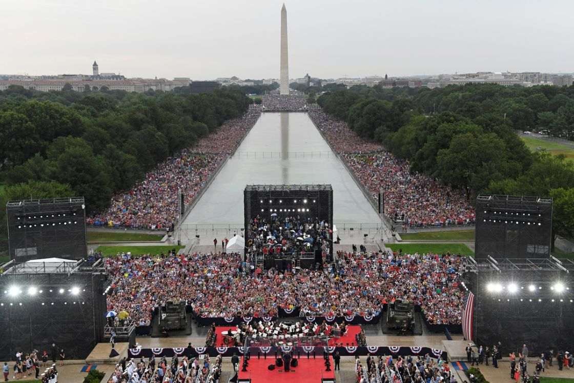 Celebración del 4 de julio de 2019 en Washington. Foto: Reuters