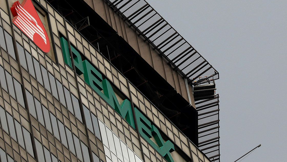 The Pemex logo is seen at its headquarters in Mexico City, Mexico March 12, 2018. REUTERS/Carlos Jasso