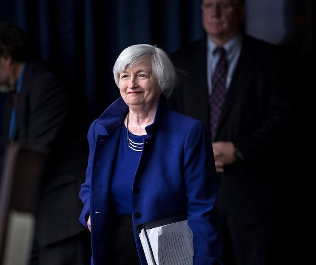 (FILES) In this file photo taken on December 13, 2017 Federal Reserve Board Chair Janet Yellen arrives for a briefing at the US Federal Reserve in Washington, DC. - President-elect Joe Biden will nominate former Federal Reserve Chair Janet Yellen to head the US Treasury, a financial source with knowledge of the incoming administration